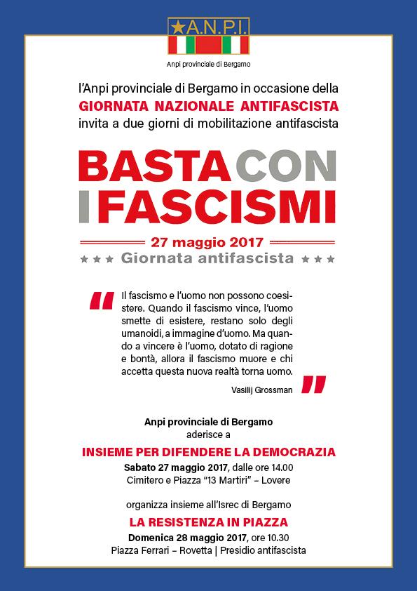 Basta coi fascismi ANPI Provinciale Bergamo